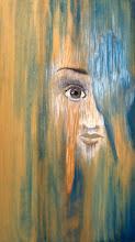 Photo: Hide (on wood, in gel pen, Sharpie, and ink)