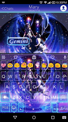 Gemini Emoji Keyboard Theme