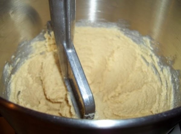 In a mixer bowl cream the butter with the sugars, Until nice and fluffy.