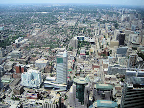 Photo: View north from the CN Tower