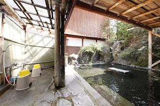 Photo: 露天風呂 シャワーも写ってるバージョン2 outside onsen