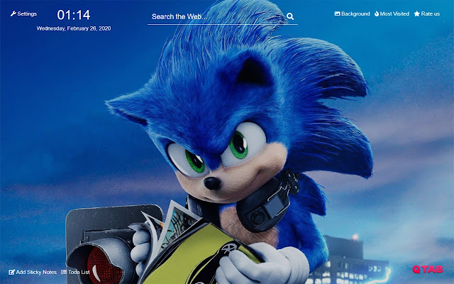 Sonic The Hedgehog New Tab Hd Theme