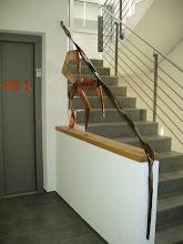 Photo: wie unterschiedlich ein Geländer sein kann zeigt sich hier in der zweiten Etage
