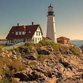 Lighthouse by Carl Chalupa - Buildings & Architecture Public & Historical ( maine, lighthouse,  )