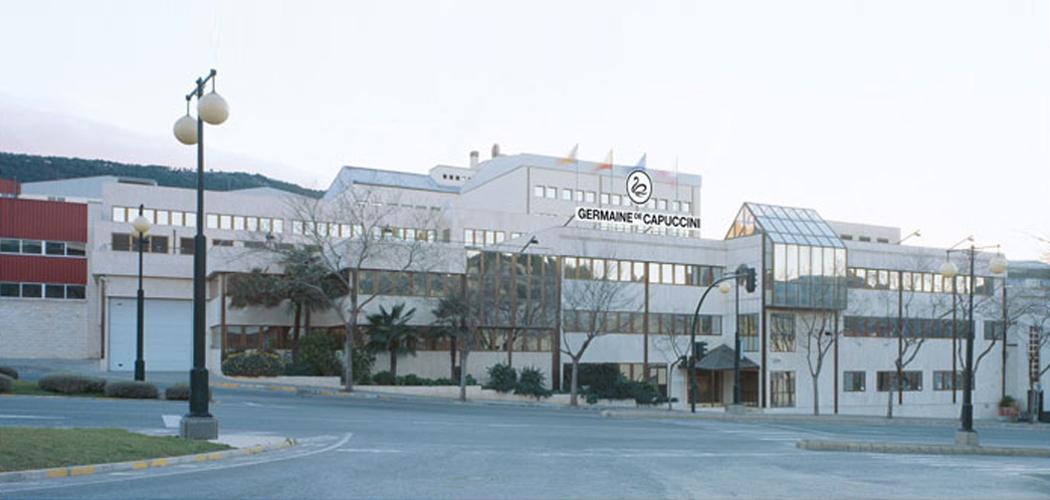 De Fabriek van Germaine de Capuccini ligt in Alcoy Spanje