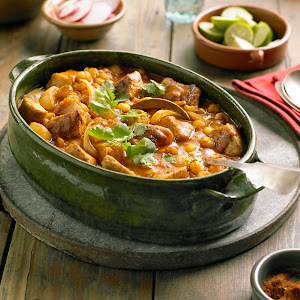 Pueblo Pork and Hominy Stew