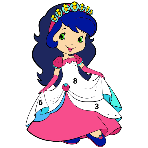 Princess Color by Number:Kids learn Coloring Pages Icon