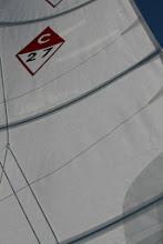 Photo: Brand new full batten main aloft