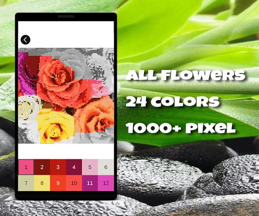 Coloring Flowers Pixel Art Game screenshots apkshin 5