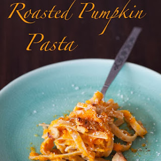 Fettuccine with Roasted Pumpkin Puree & Walnuts