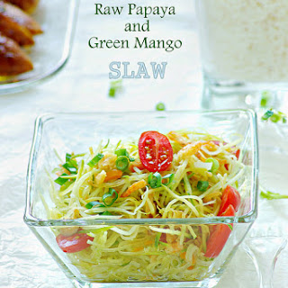 Raw Papaya and Green Mango Slaw