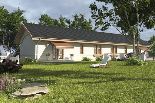 projekt Skowronek bez garażu bliźniak B-BL2