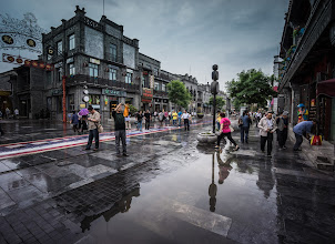 Photo: Rain on the old Imperial road...  It was a rainy few days in Beijing!