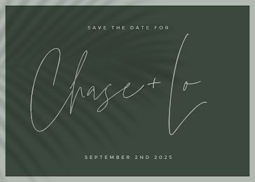Chase and Lo - Save the Date template