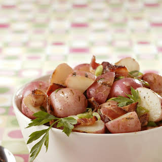 Grilled New Potato Salad with Bacon and Scallions.