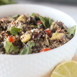 Southwestern Black Bean and Avocado Quinoa Salad