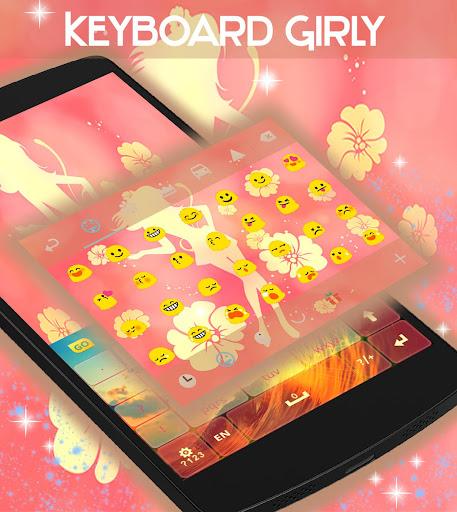 娛樂必備免費app推薦|ガーリーのGOキーボードのテーマ線上免付費app下載|3C達人阿輝的APP