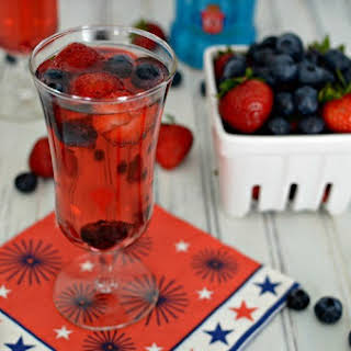 Red, White, and Berry Sparkling Cocktail.