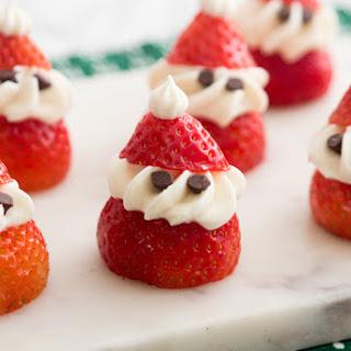 Jade's Strawberry Santas.