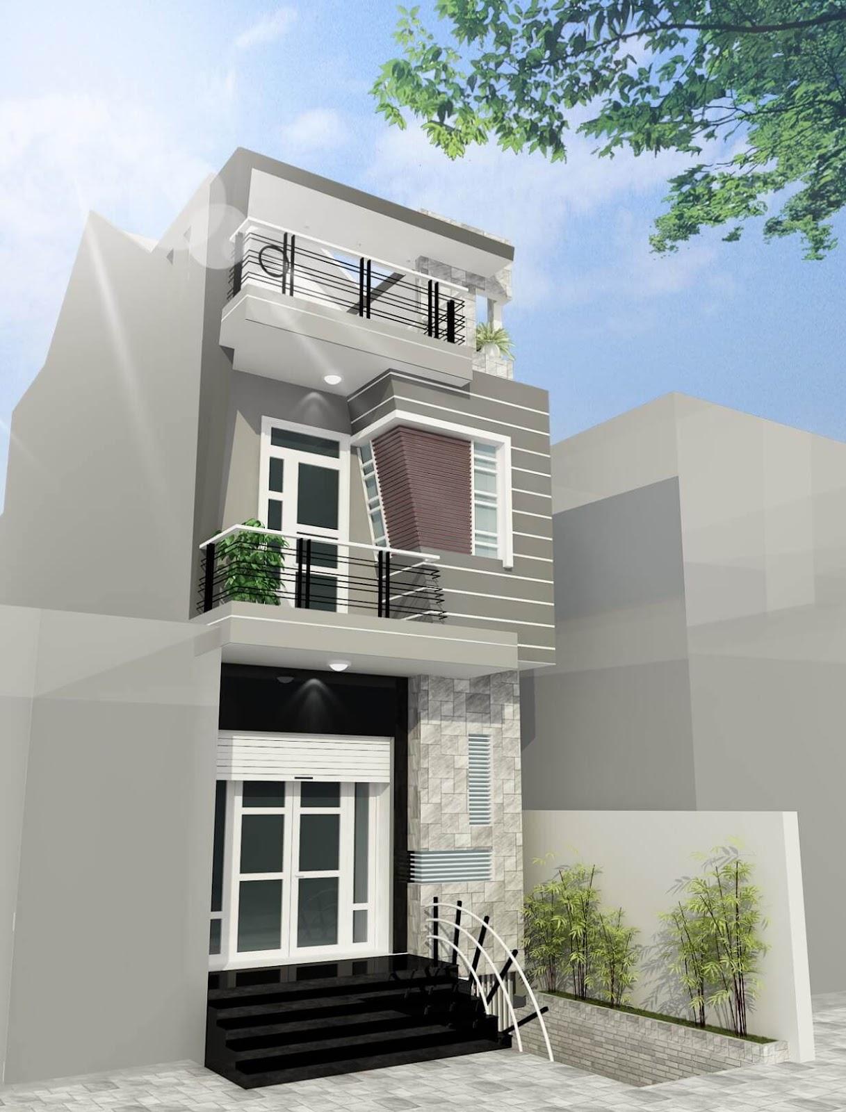 Thiết kế nhà 2 tầng nông thông mang hơi hướng hiện đại