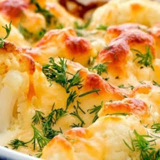 Cauliflower GARLIC AND CHEESE IN THE OVEN.