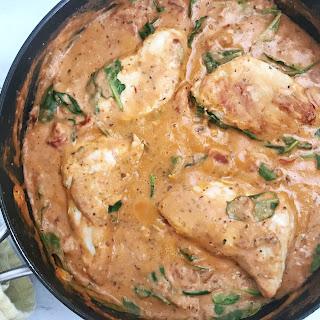 Creamy Tomato Chicken Skillet Recipe