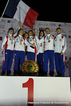 Photo: Vol Relatifs à 4 Féminin Champions du Monde 2012