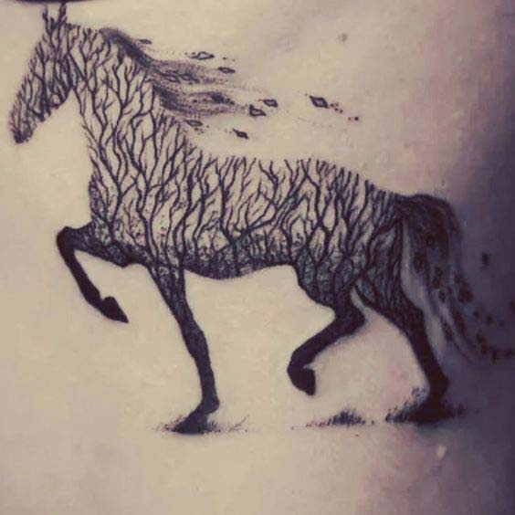 d5e338bc46028 60 Best Horse Tattoos Designs and Ideas With Meanings