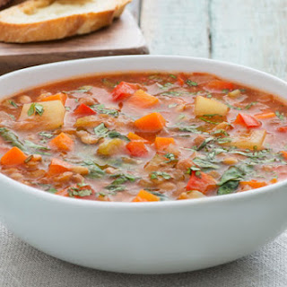 Hearty Lentil & Vegetable Soup.