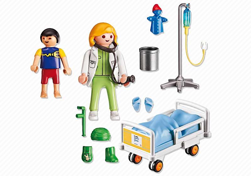 Contenido Real de Playmobil® 6661 Doctor con Niño