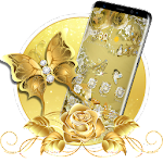 Golden Butterfly Luxury Launcher Icon