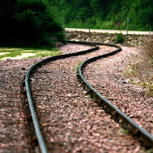 Photo: Curved Country Railroad Tracks