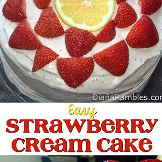 Lemon Ice Cream & Strawberry Cream Cake
