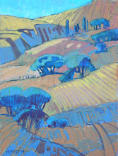 Photo: California Gold, pastel by Nancy Roberts, copyright 2014. Private collection.