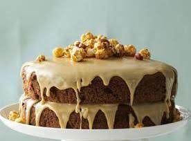 CHOCOLATE SPICE CAKE WITH CARAMEL FROSTING