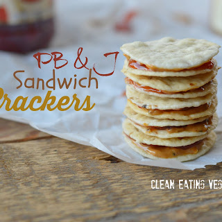 Homemade Peanut Butter and Jelly Sandwich Crackers.