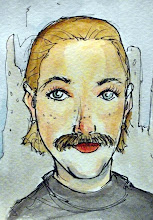 Photo: Todays Movember girl image is +Abby Christiansen who is sporting a small femullet to go with her stache.