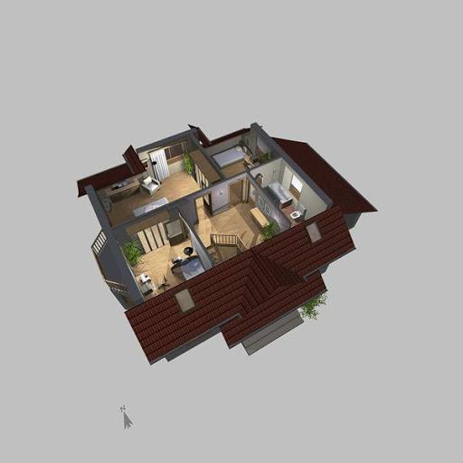 APS 113 - Rzut poddasza 3D