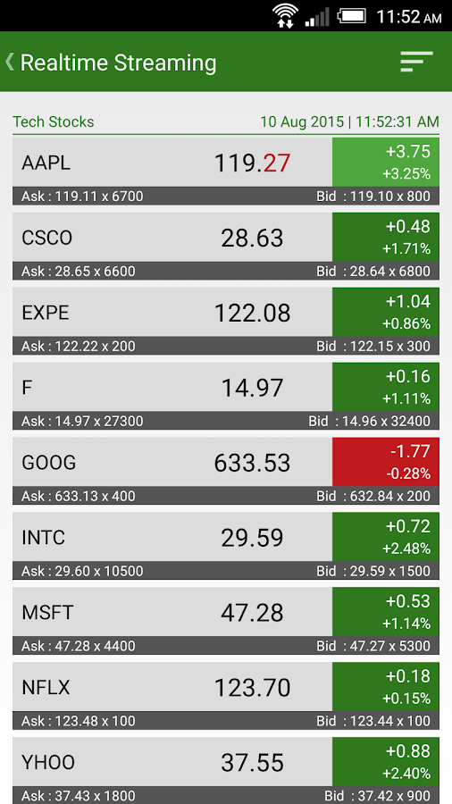 Stock Watcher 2 - Realtime- screenshot