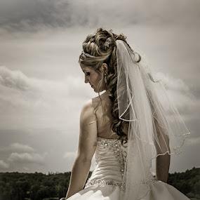 Beautiful Bride at the lake by Robert Blair - Wedding Bride ( wedding photography, details, wedding, bride and groom, bride )