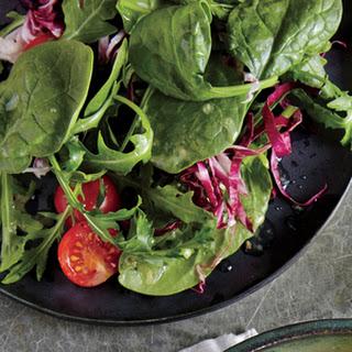 Spinach and Radicchio Salad with Lemon Vinaigrette.