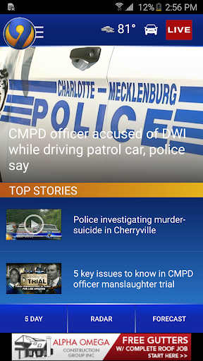 WSOC-TV Channel 9 News Screenshot