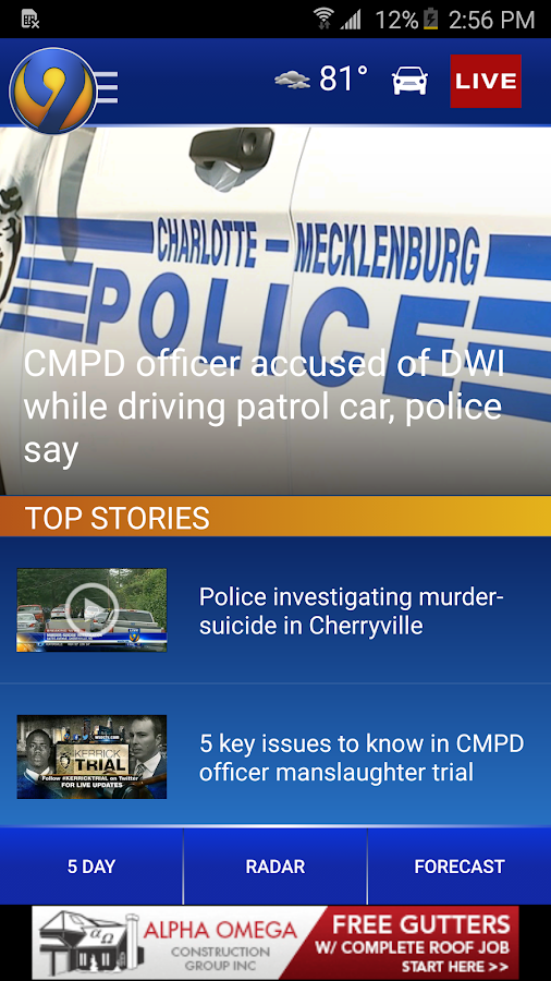 WSOC-TV Channel 9 News- screenshot