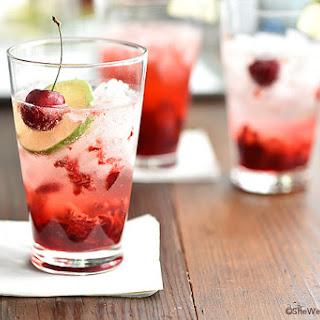 Cherry Gin Fizz.