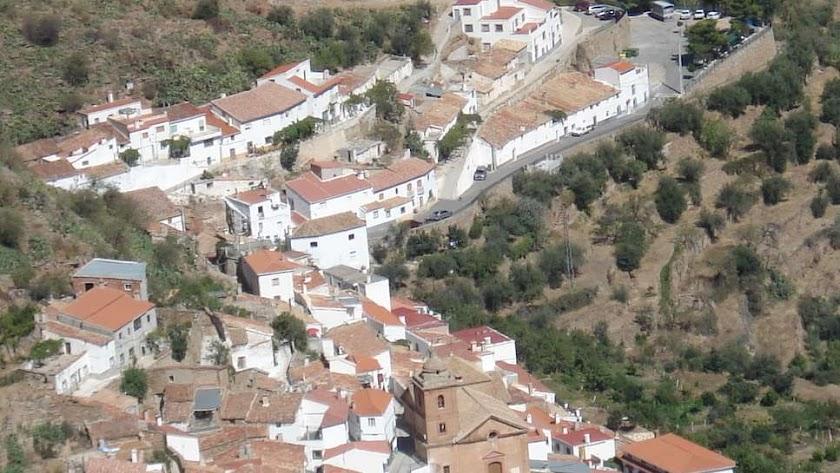 Vista de la localidad de Laroya.