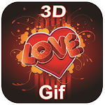 3D Love Gif Collection Icon