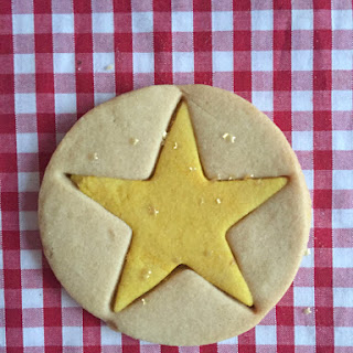 Easy Christmas Star Cookies.