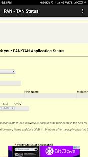 PAN/TAN   Status - náhled