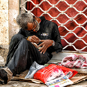 Homeless by Rodolfo Dela Cruz - People Street & Candids ( beggar, homeless, old man, candid, people )