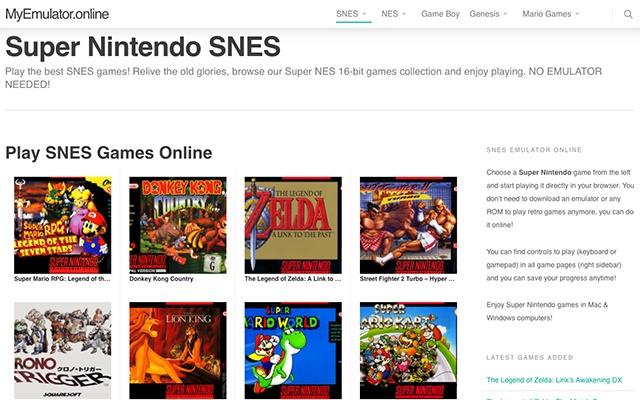 Super Nintendo SNES Online Emulator